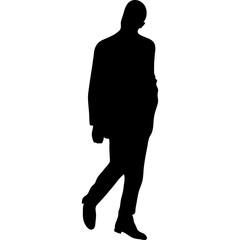 Silhouette of men fashion illustration jpg