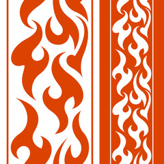 Seamless fire border