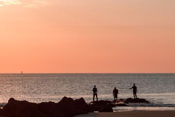 Surf fishing Tybee Island