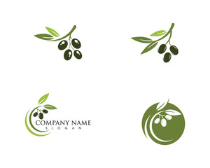 Olive logo template vector icon