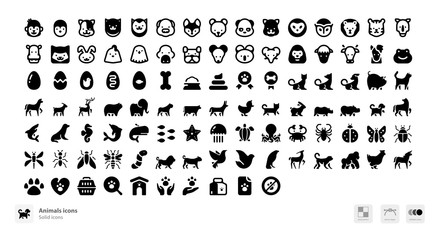 Animals and pets icons
