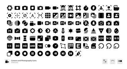 Camera and photography icons