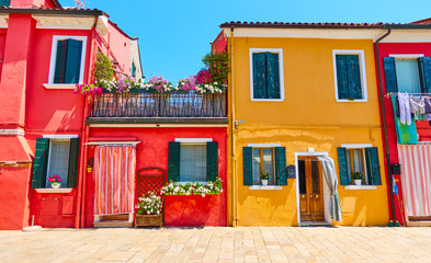 Wall Mural - Houses in Burano, Venice