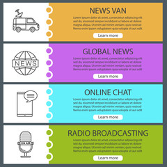 Mass media web banner templates set