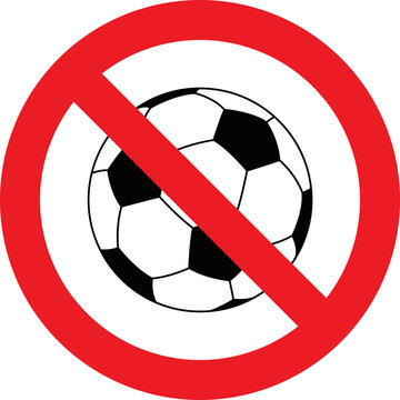 No soccer ball sign