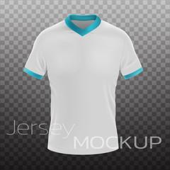 Jersey Mockup realistic design. Vector realistic eps file.