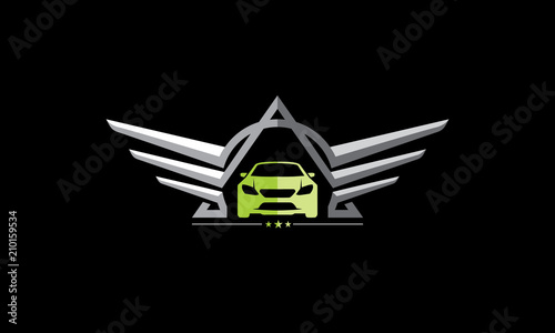 Car Wings Logo Symbol Icon Stock Image And Royalty Free Vector
