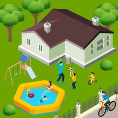 Family House Isometric