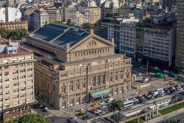 Türaufkleber Buenos Aires Aerial view of Teatro Colon - Buenos Aires, Argentina