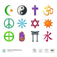 Beliefs Symbols icons