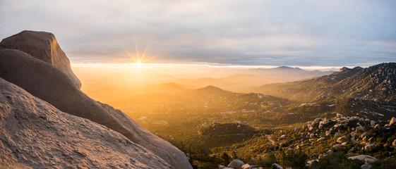 Mount Woodson landscape at sunset, California, America, USA