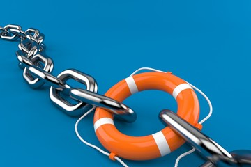 Chain with life buoy