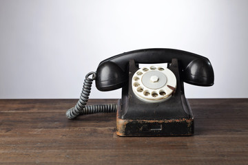 Old black phone.
