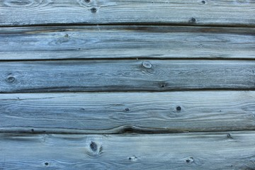 Unpainted texture of old wood on the wall surface