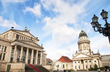 Concert Hall (Konzerthaus) and Französischer Dom (French Cathedral) at Gendarmenmarkt square, Berlin