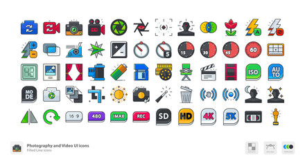 Photo and Video UI icons