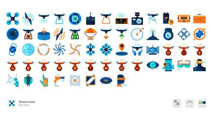 Drones icons