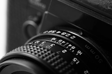 close up lens scale on slr camera