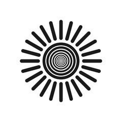 Sun vector icon. Sun line vector icon. sunshine icon
