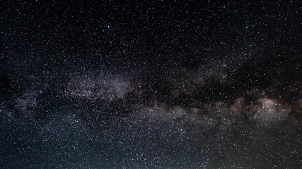 Milky Way on the starry night sky