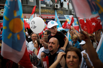Iyi (Good) Party election rally in Istanbul