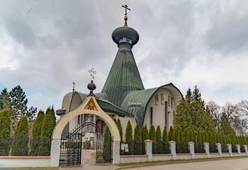 Die orthodoxe Kirche der Heiligen Dreifaltigkeit in Hajnówka, Polen