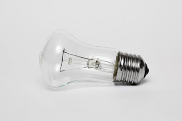 Light bulb, isolated on white background, realistic picture