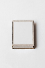Box of matches for your design and logo, isolated on white background(mockup)
