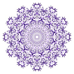 Mandala Style Vector Color Shapes. Abstract design. Fantastic decoration for fashion, holiday card, relax illustration.