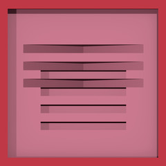 abstract, pink pattern in box shape. 2d illustration