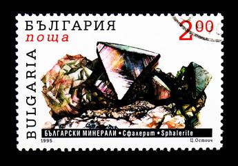 Sphalerite, Bulgarian minerals serie, circa 1995