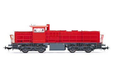The toy diesel locomotive