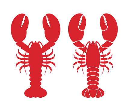 Lobster logo. Isolated lobster on white background