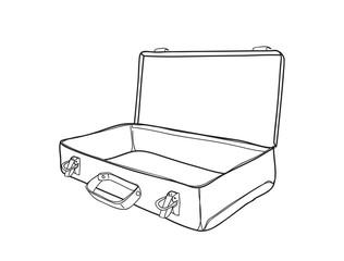 Metal tools  box industrial loft hand drawn vector lineart illustration