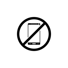 ban on the use of mobile phones icon. Element of travel icon for mobile concept and web apps. Detailed ban on the use of mobile phones icon can be used for web and mobile
