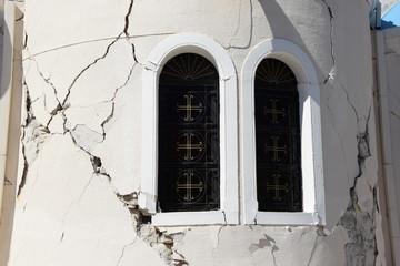 Kapelle in Kos-Stadt mit Erdbebenschaden