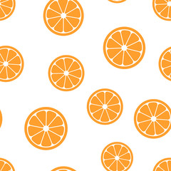 Orange fruit icon seamless pattern background. Business concept vector illustration. Orange citrus tropical food symbol pattern.