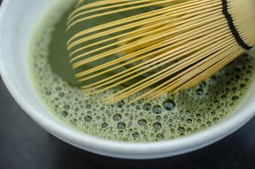 Closeup of Matcha tea
