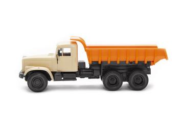 toy excavator and heavy truck