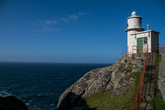 Landscape view at Sheepshead with lighthouse