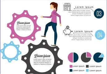 Illustrated Statistics Infographic Layout