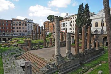 Roma, rovine e ruderi di Piazza Argentina