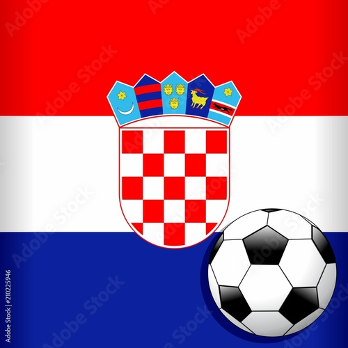 Croatia Flag with Soccer Ball Football WorldCup