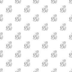 Inclined segway pattern vector seamless repeating for any web design