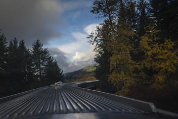 Autumn view on train travel
