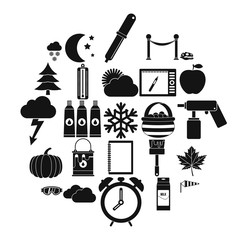 Portrayal icons set. Simple set of 25 portrayal vector icons for web isolated on white background