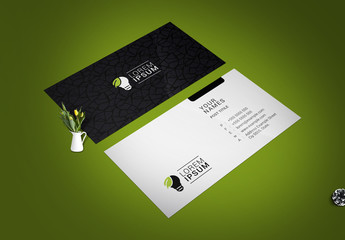 Business Card Layout with Textured Background