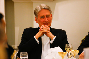 Britain's Chancellor of the Exchequer Philip Hammond attends the Annual Mansion House dinner in London