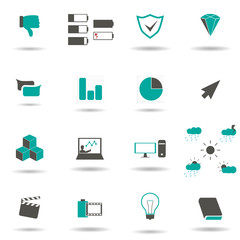 Simple web icons set. Web icons to use in web and mobile UI