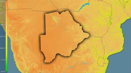 Botswana, diurnal range - dark glow